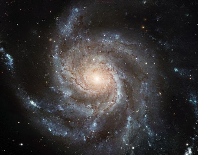 Por WikiImages.  (Disponível em: https://pixabay.com/en/messier-101-ngc-5457-galaxy-10995/)